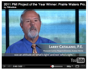 Larry Catalano, Aurora Water -- PWP, PMI Project of the Year 2011 Video
