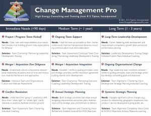 Change Management Pro Solutions Matrix 2011, © 2011, R S Tipton, Incorporated