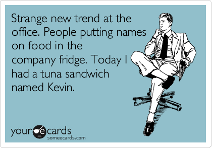 A Tuna Sandwich Named Kevin